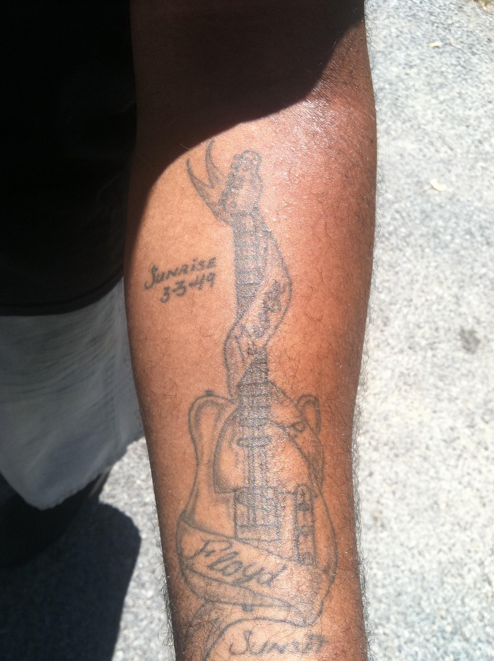 as his memorial tattoo